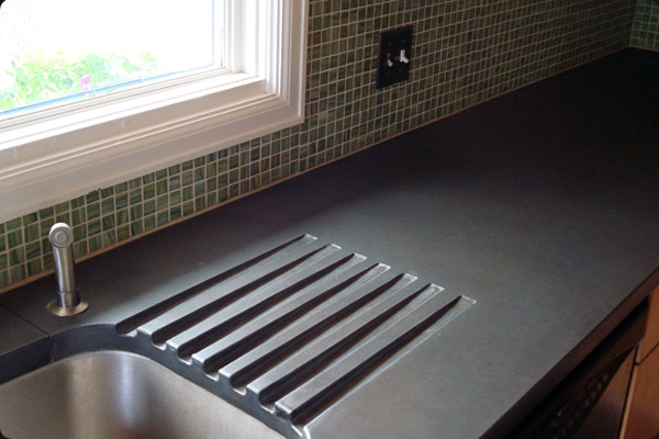 integral concrete drainboard - Colored Concrete Countertops