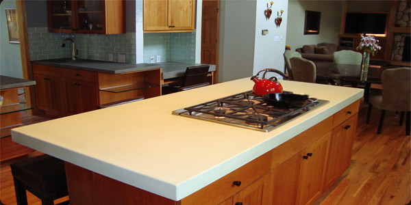 Amazing Boulder Concrete Kitchen Island Custom Color