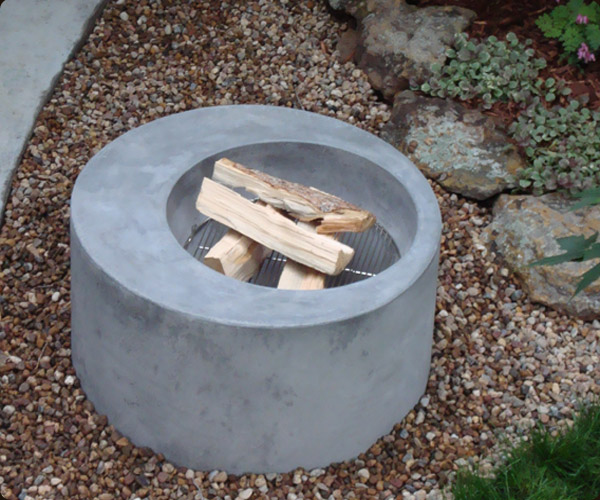 Outdoor Concrete Fire Pit Boulder 171 Concrete Pete