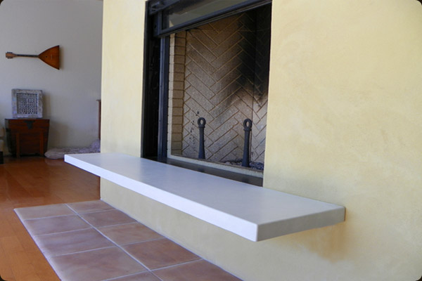 cantilevered concrete fireplace hearth concrete pete