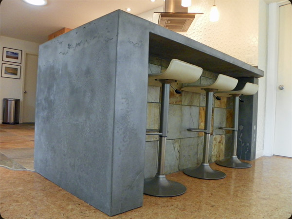 Concrete Bartop With Integral Leg