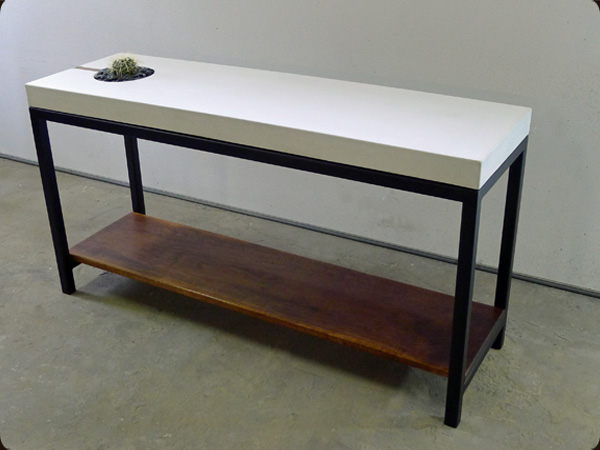 Concrete Pete Succulent Sofa Table