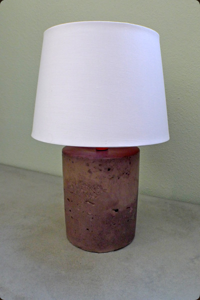 contemporary concrete lamp