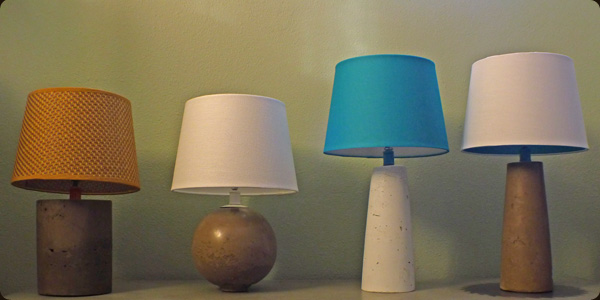 concrete lamps