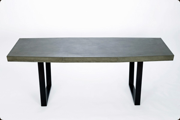 modern concrete and steel furniture