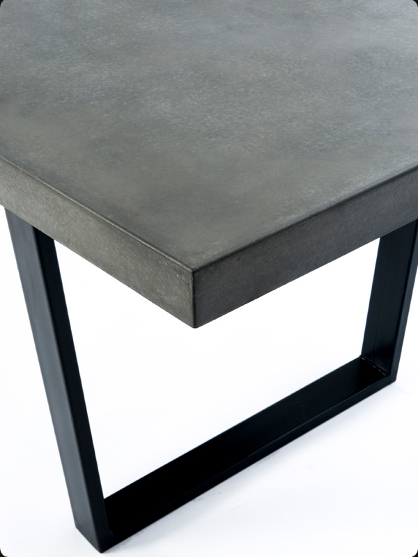 concrete and steel furniture