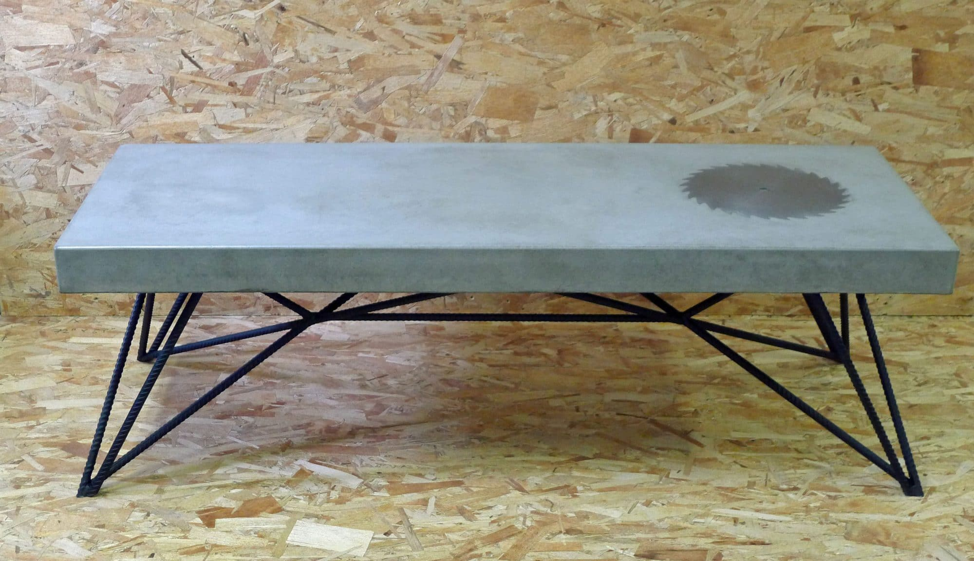 Concrete Pete concrete and rebar coffee table : rebar base from www.concretepete.com size 2000 x 1152 jpeg 222kB