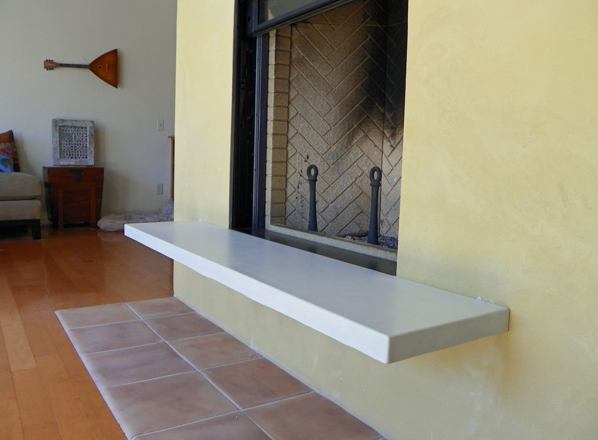 concrete pete u2013 white concrete fireplace hearth