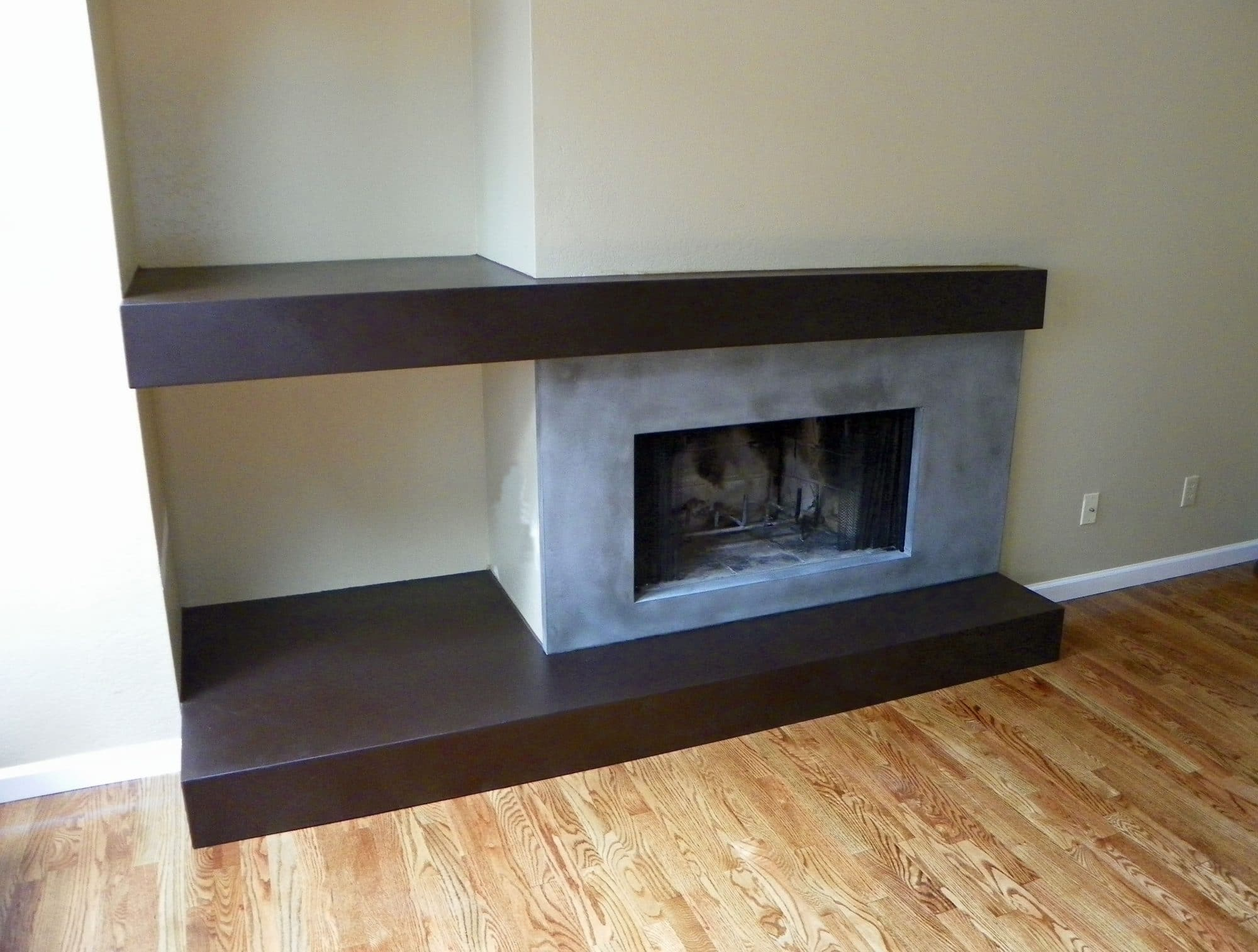 concrete fireplace hearth instafireplace us