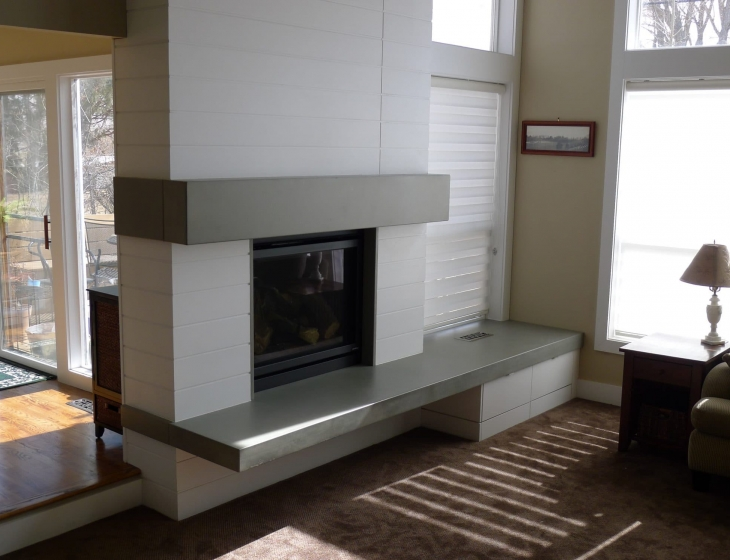 concrete hearth and mantle