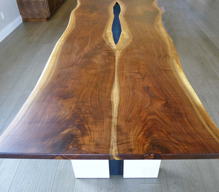 Live edge walnut dining table