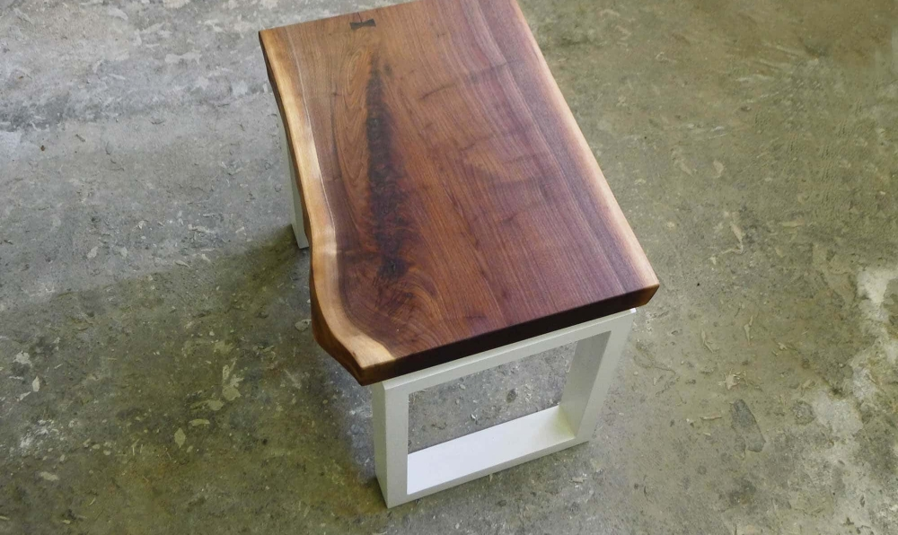 concrete and walnut end table 2