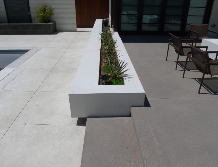 contemporary concrete planters