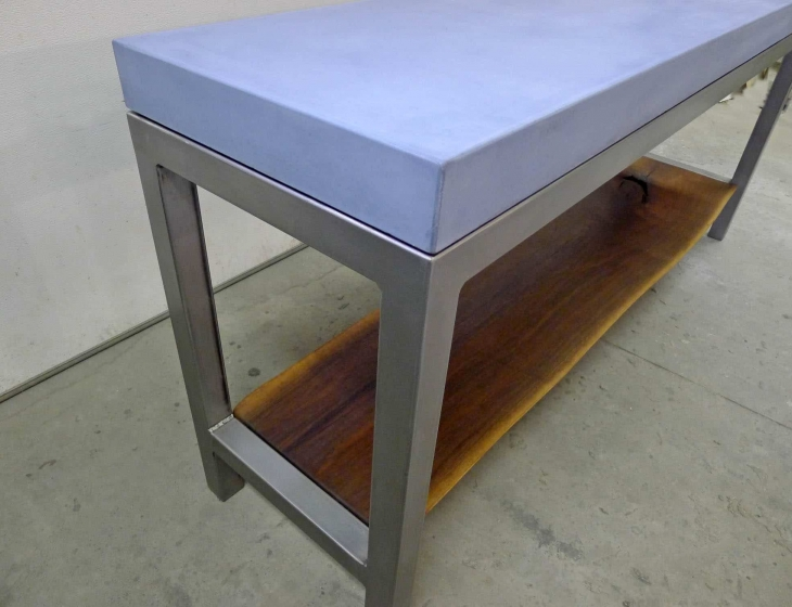concrete sofa table