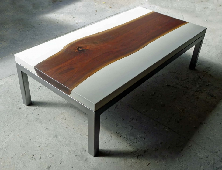 concrete river table