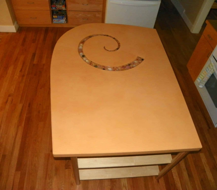 Custom concrete kitchen island