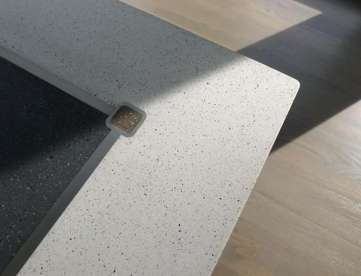 polished concrete and stainless steel