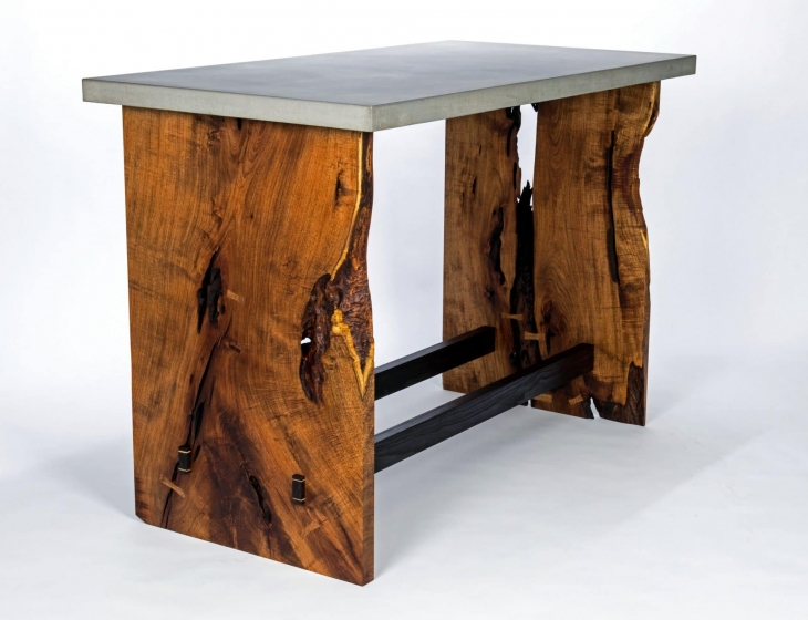 Mesquite and concrete table