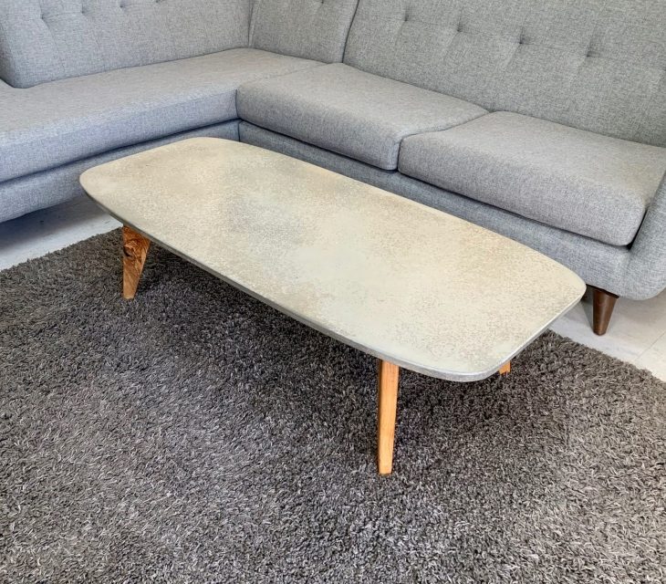 Concrete and ash coffee table