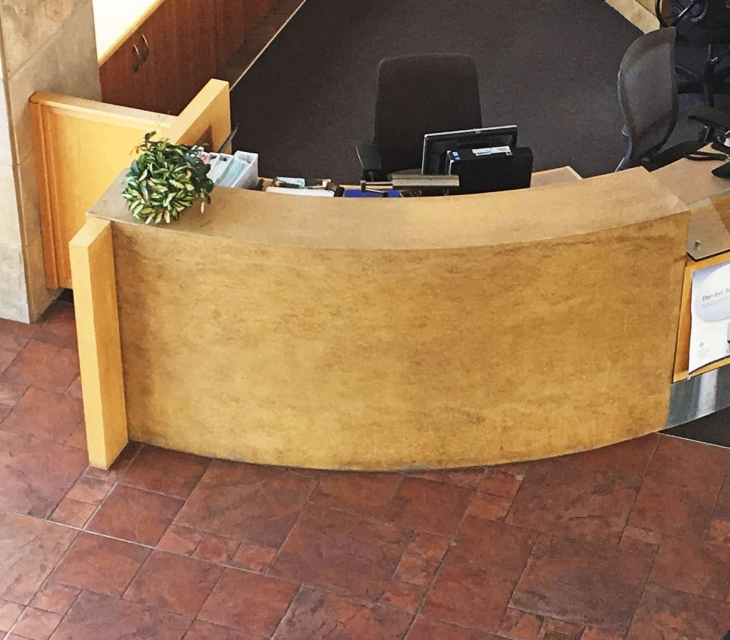 BCH concrete reception desk