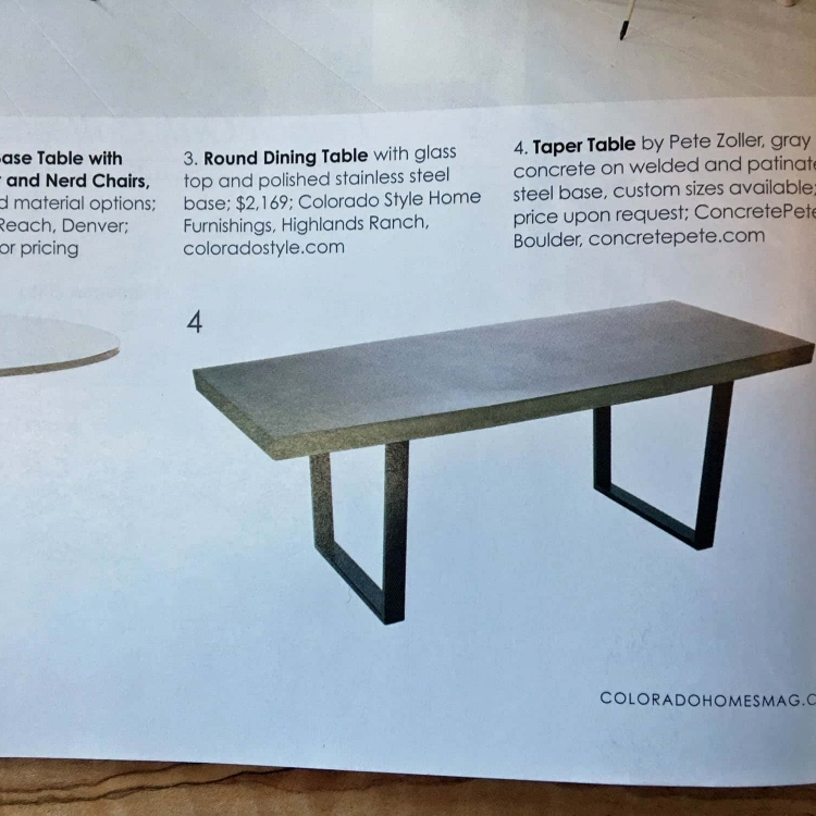 taper table colorado homes magazine