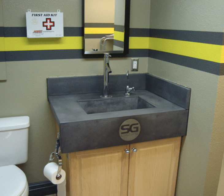 Sports Garage concrete sink