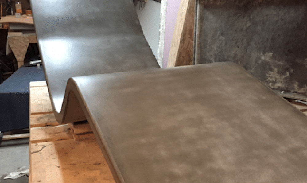 concrete chaise lounge