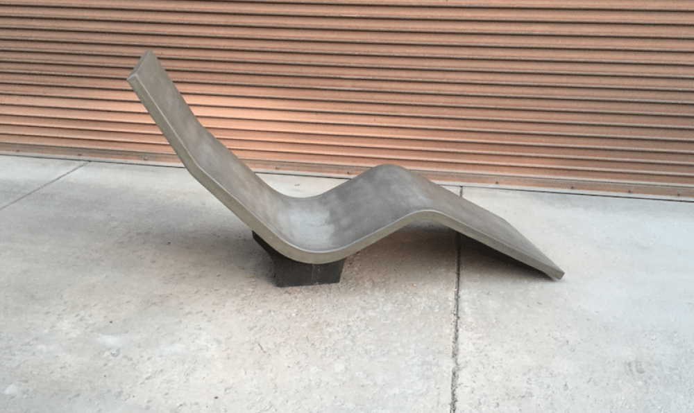 concrete lounge chair