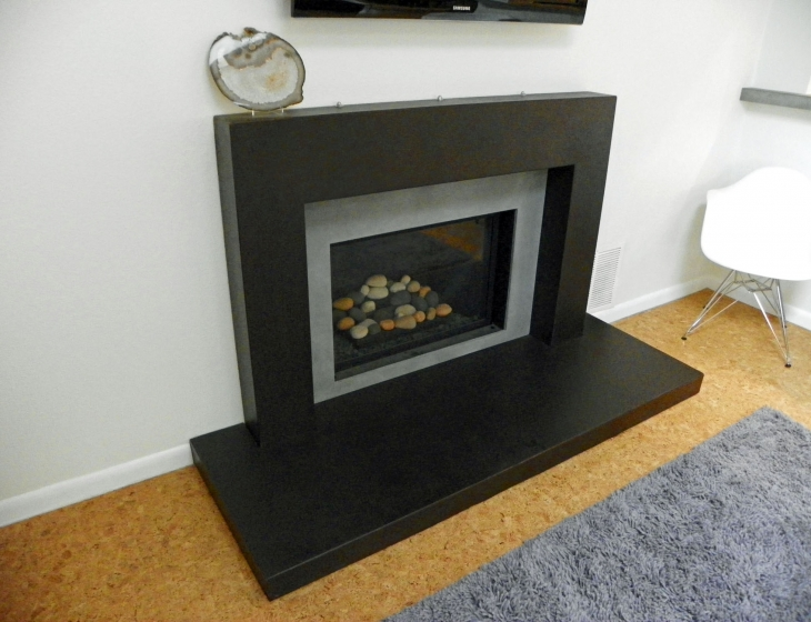 Sumac concrete Fireplace