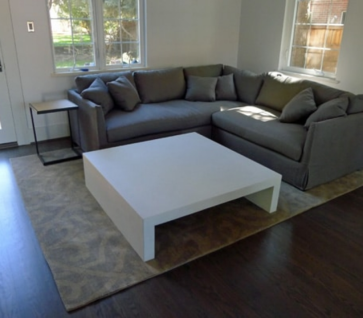 Denver concrete coffee table