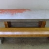 plylam bench and table