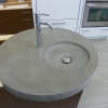 round concrete sink