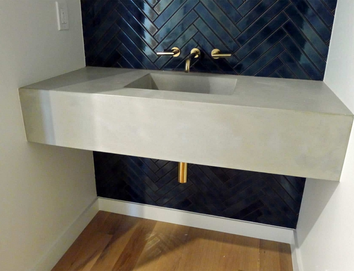 Floating concrete sink