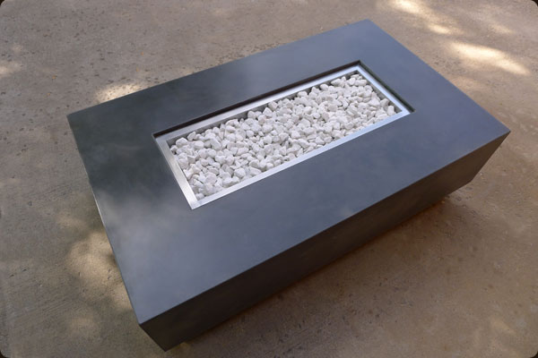 Concrete Pete Rectangular Firepit Raleigh Nc