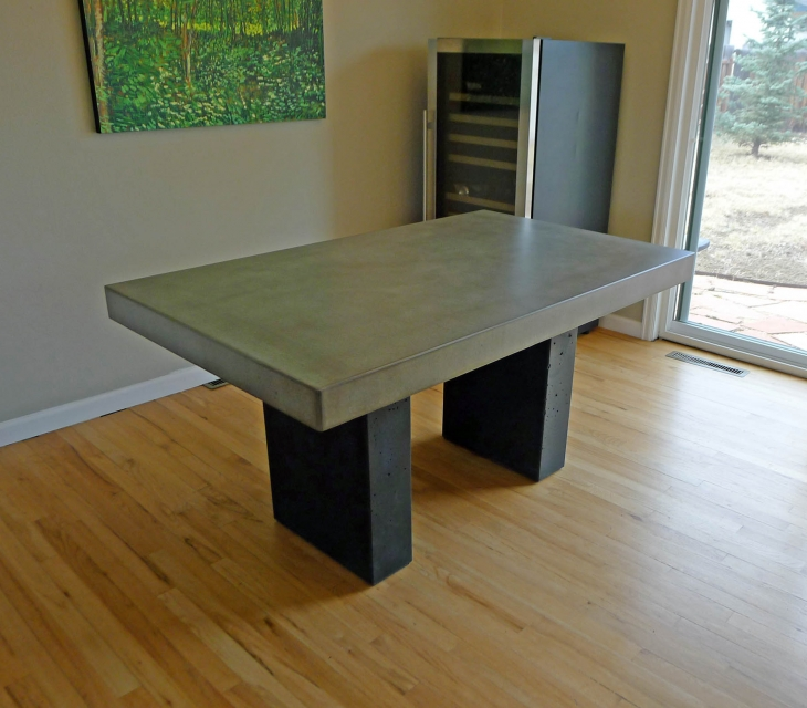Concrete dining table and base