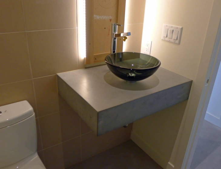 Floating Concrete Counter