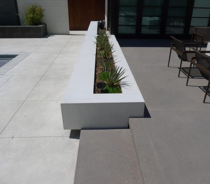 contemporary concrete planters