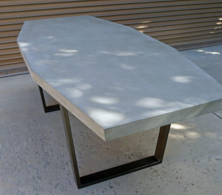 Octagon concrete table