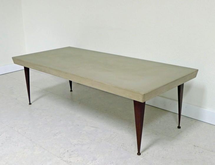 Steel leg coffee table