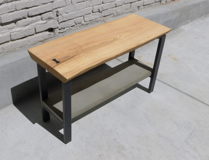 Ash and concrete side table