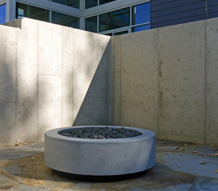 Ft Collins concrete firepit