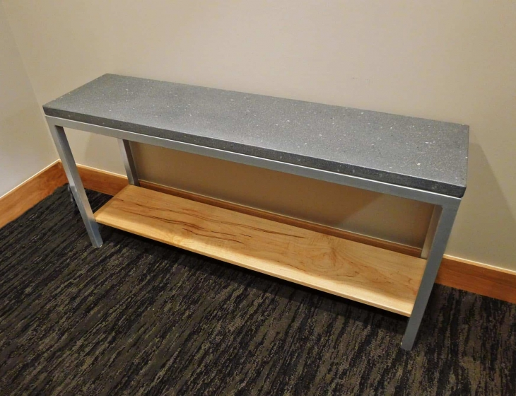 Concrete and Maple console table