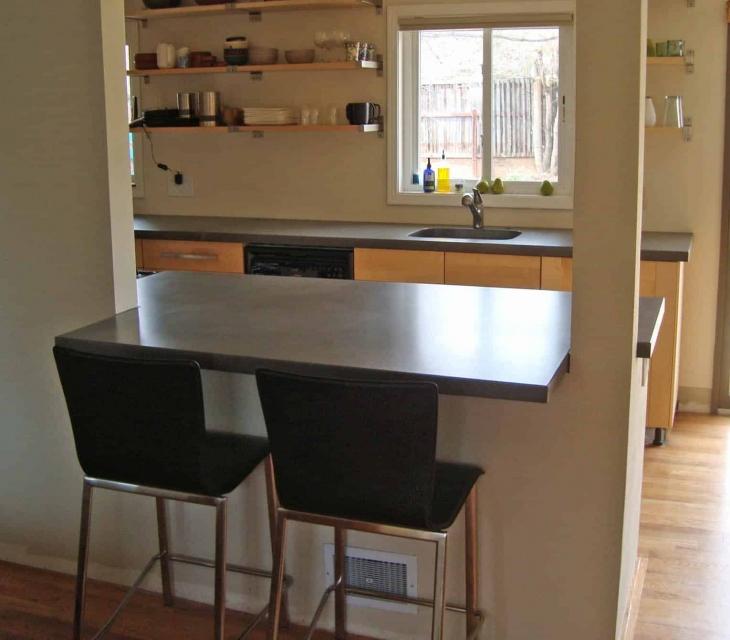 Table Mesa concrete kitchen