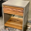 concrete nightstand