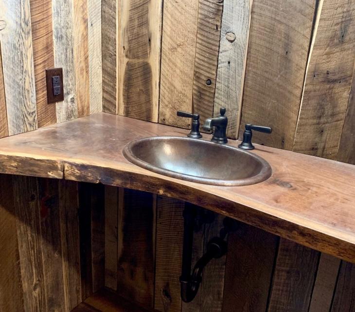 Live edge walnut countertop