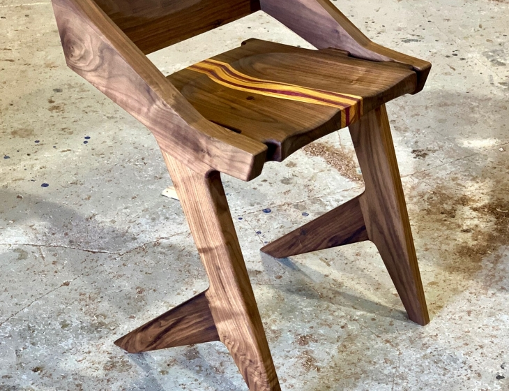 Modern walnut chair