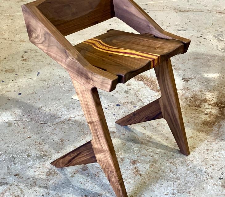 Modern walnut chair