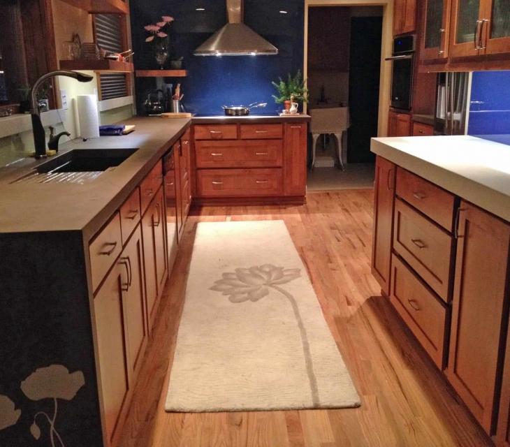 Boulder concrete kitchen