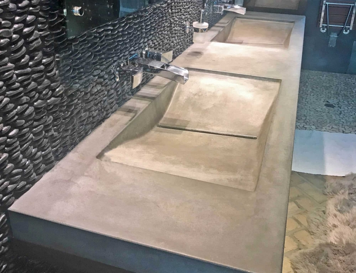 Double concrete wave sink