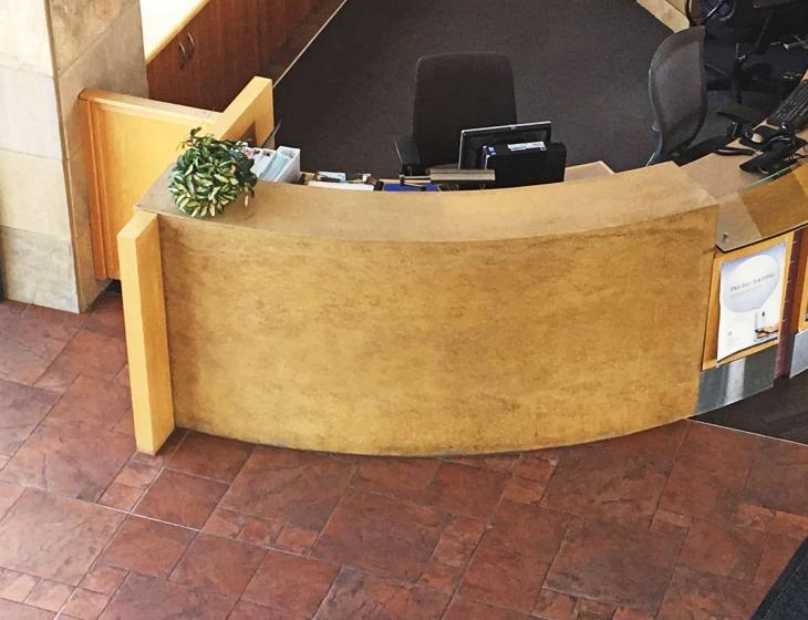 BCH concrete reception desk